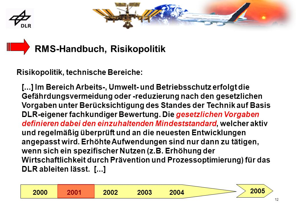 RMS-Handbuch, Risikopolitik