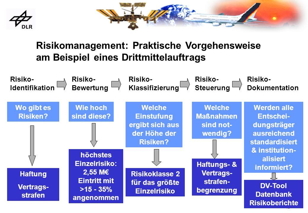 Risikomanagement: Praktische Vorgehensweise am Beispiel eines Drittmittelauftrags