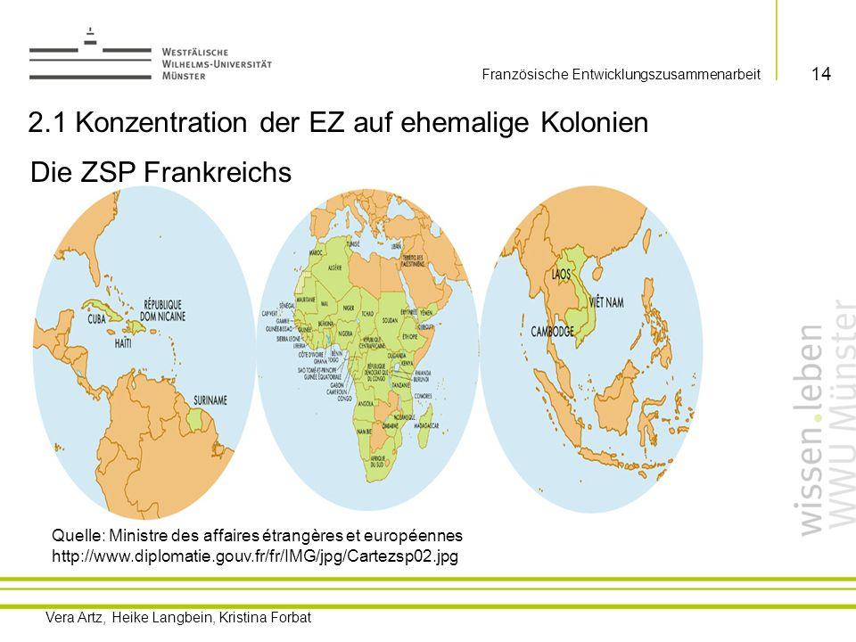 2.1 Konzentration der EZ auf ehemalige Kolonien