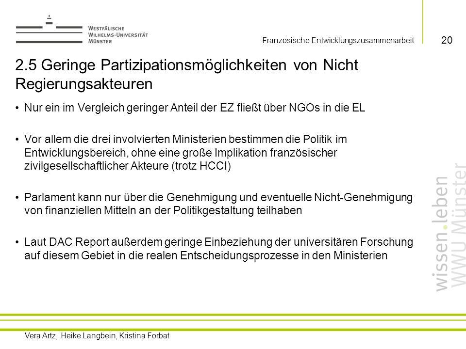 2.5 Geringe Partizipationsmöglichkeiten von Nicht Regierungsakteuren