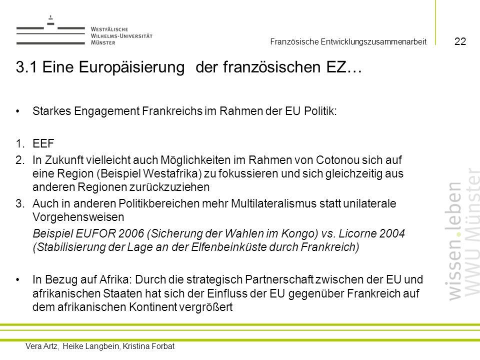 3.1 Eine Europäisierung der französischen EZ…