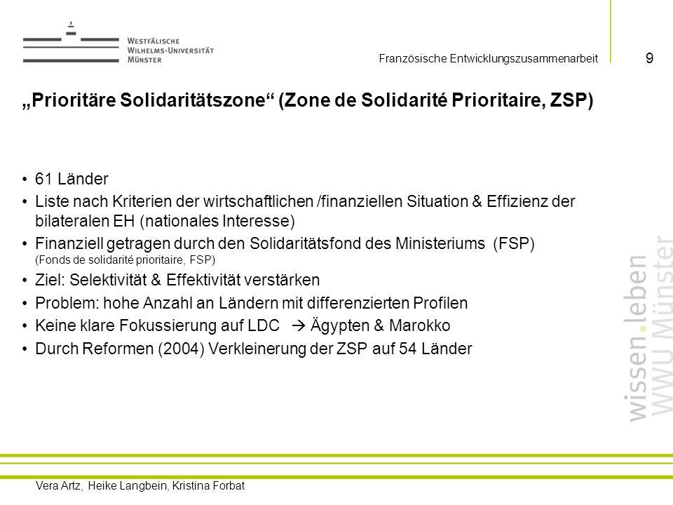 """""""Prioritäre Solidaritätszone (Zone de Solidarité Prioritaire, ZSP)"""