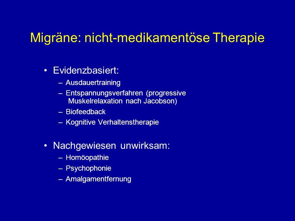 Migräne: nicht-medikamentöse Therapie
