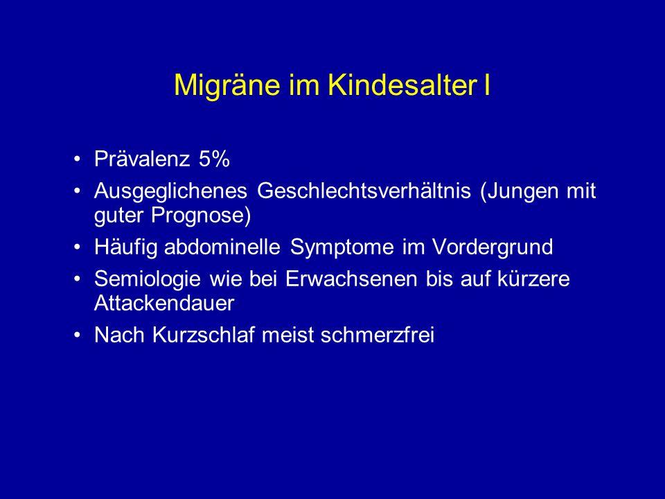 Migräne im Kindesalter I