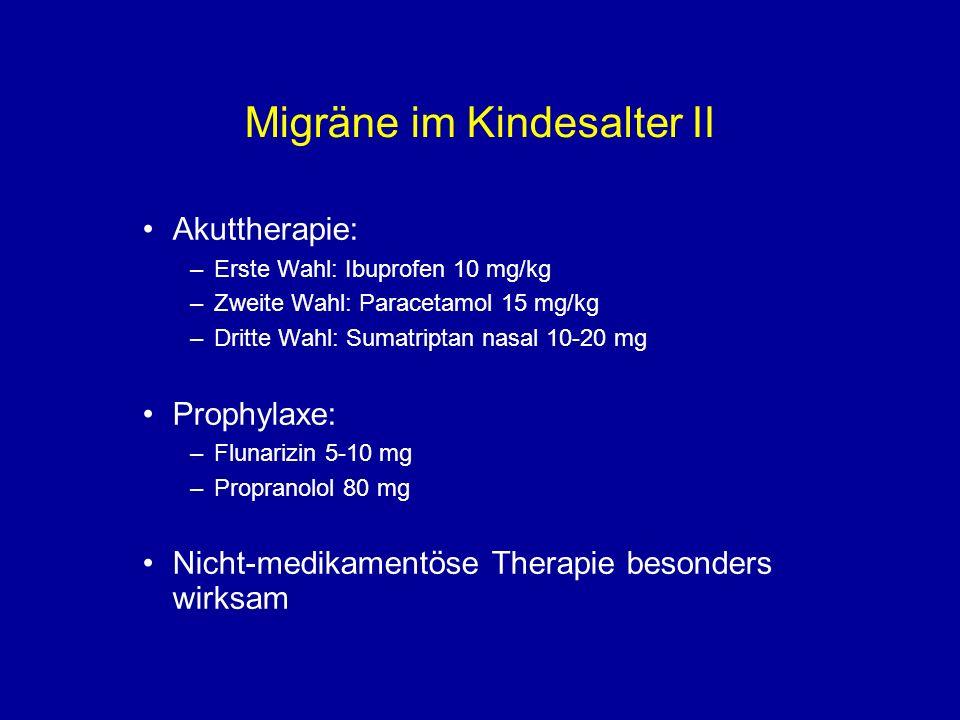 Migräne im Kindesalter II