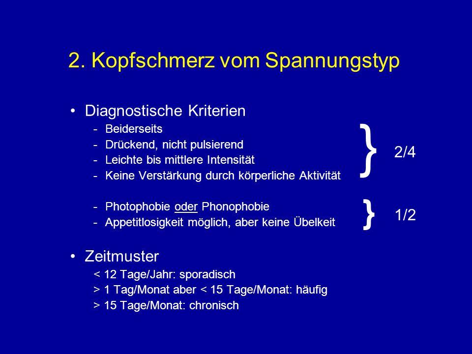 2. Kopfschmerz vom Spannungstyp