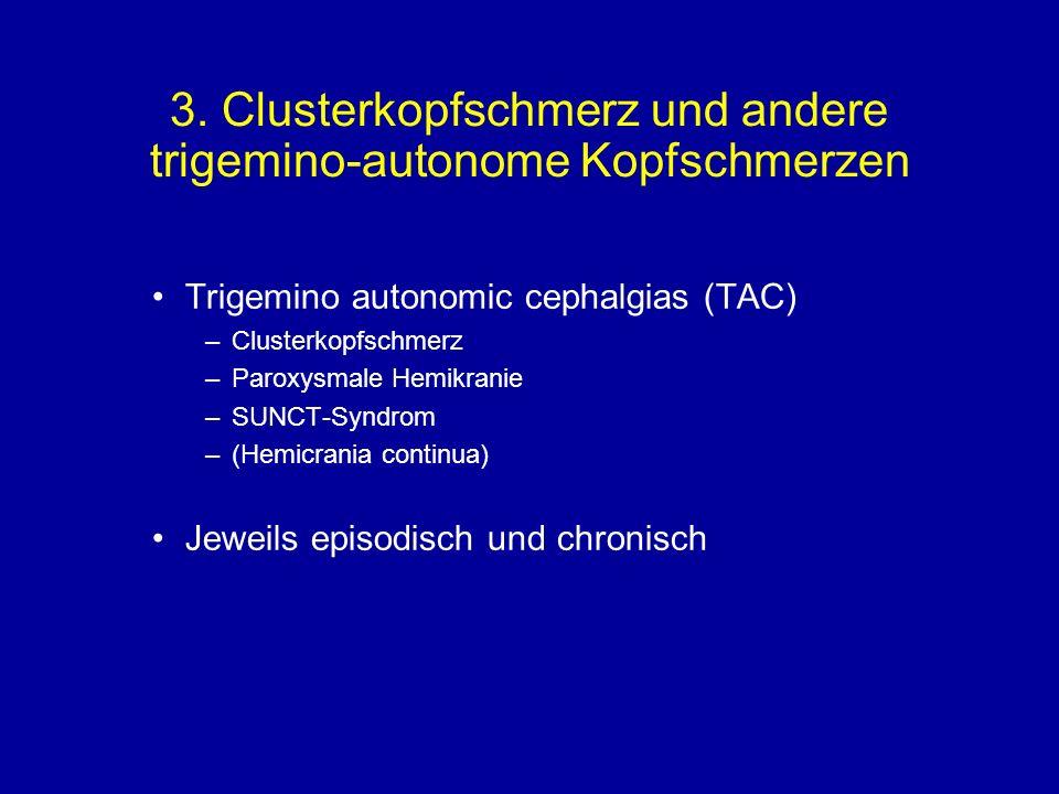 3. Clusterkopfschmerz und andere trigemino-autonome Kopfschmerzen