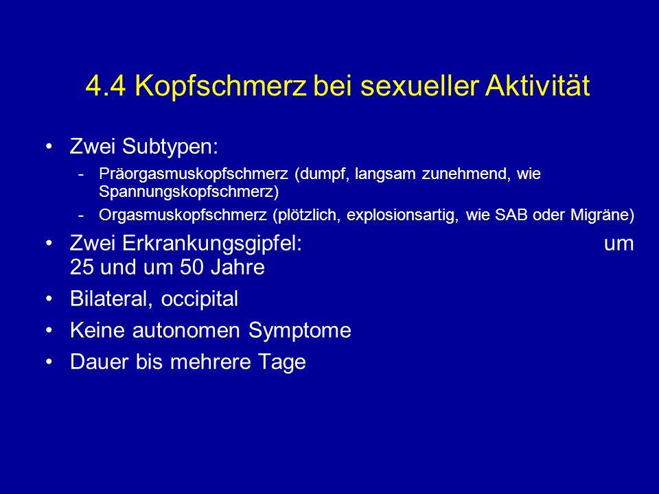 4.4 Kopfschmerz bei sexueller Aktivität