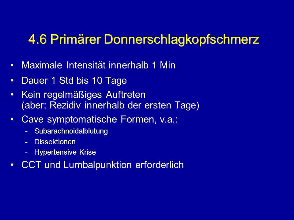 4.6 Primärer Donnerschlagkopfschmerz