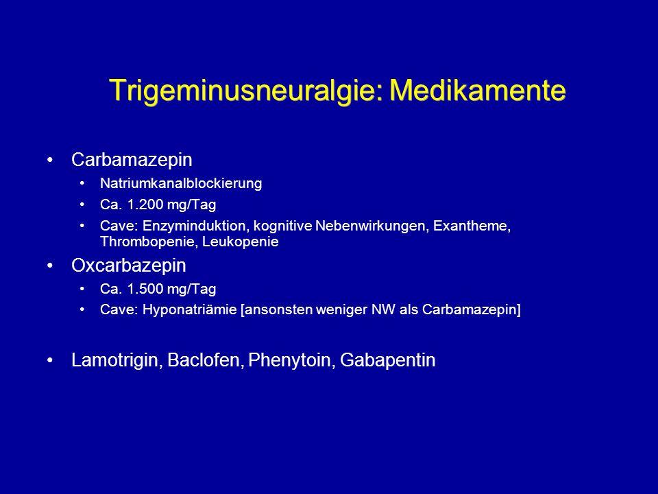 Trigeminusneuralgie: Medikamente