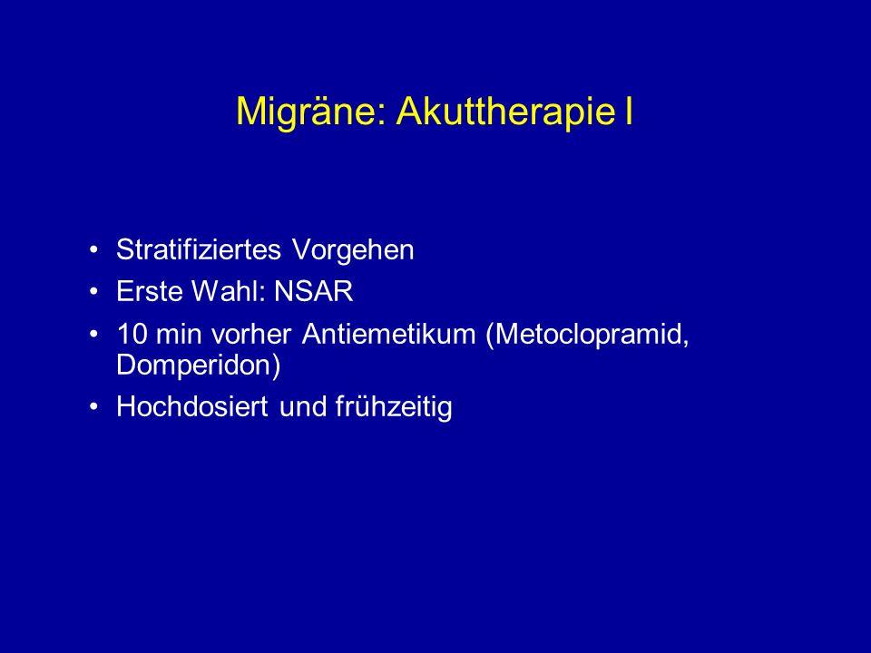 Migräne: Akuttherapie I