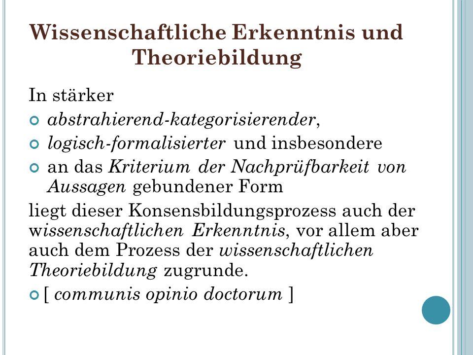 Wissenschaftliche Erkenntnis und Theoriebildung