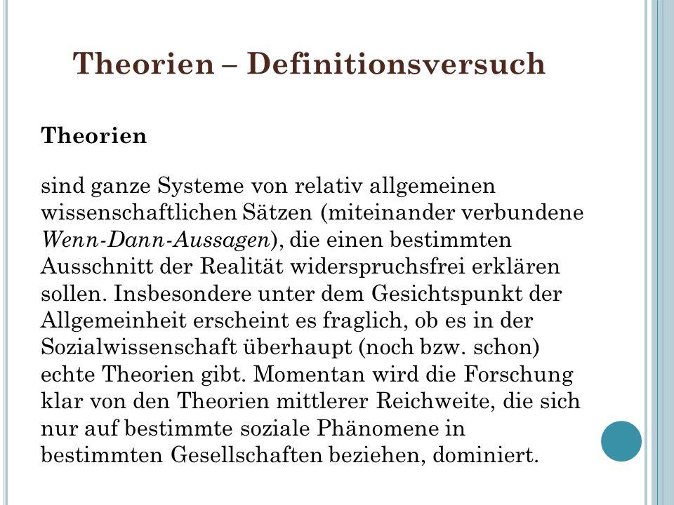 Theorien – Definitionsversuch