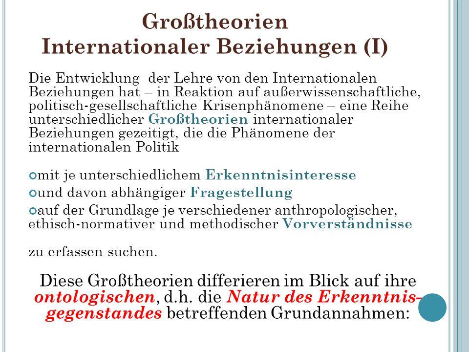 Großtheorien Internationaler Beziehungen (I)