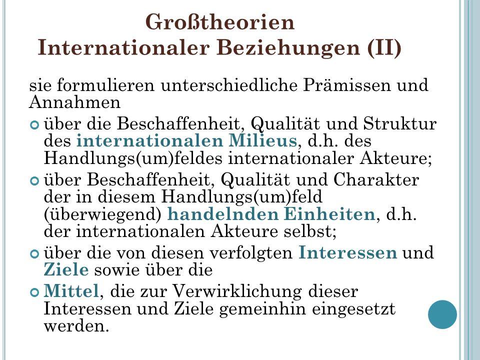 Großtheorien Internationaler Beziehungen (II)