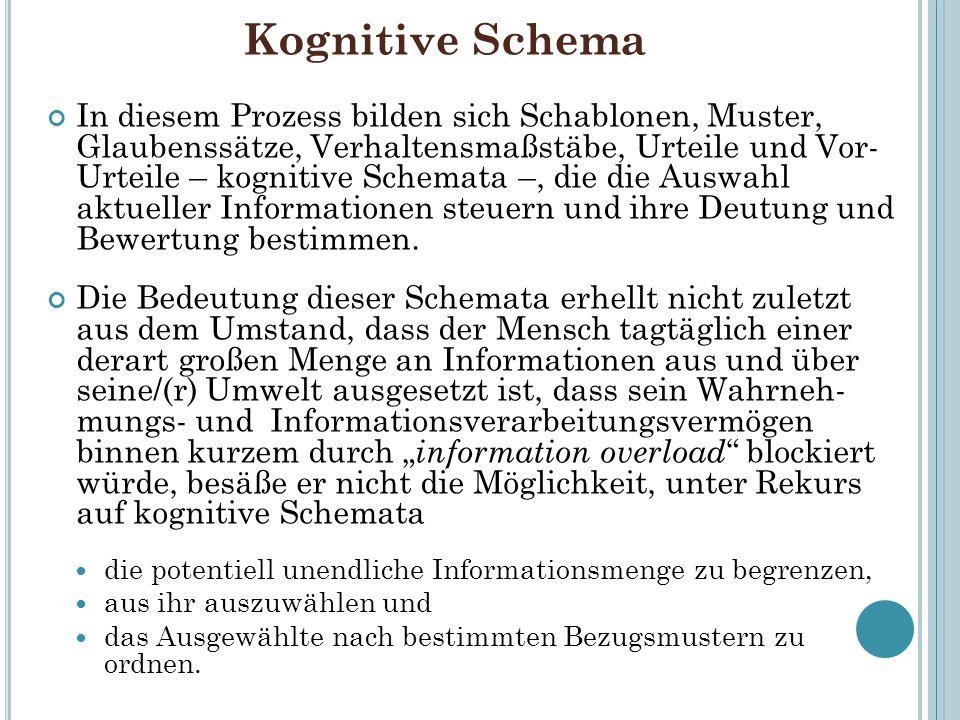 Kognitive Schema