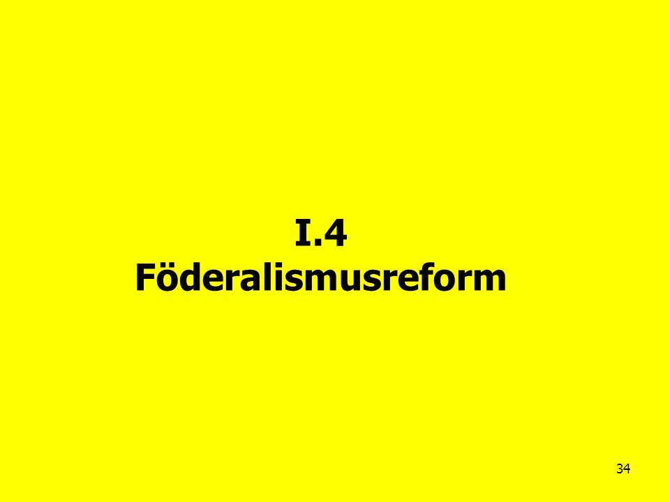I.4 Föderalismusreform