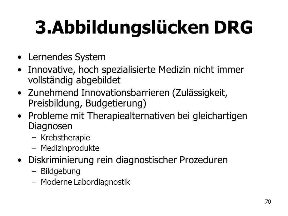 3.Abbildungslücken DRG Lernendes System