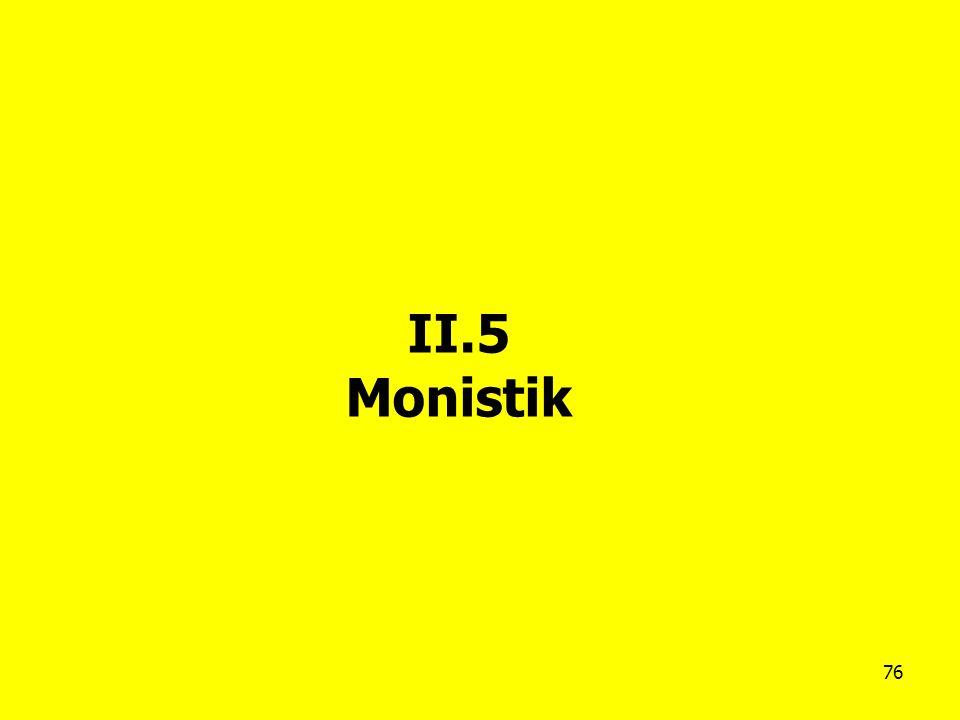 II.5 Monistik