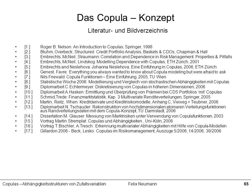 Das Copula – Konzept Literatur- und Bildverzeichnis