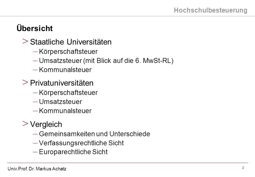 Staatliche Universitäten