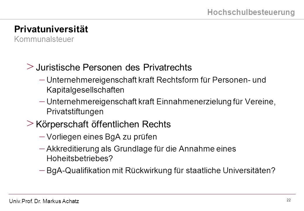 Privatuniversität Kommunalsteuer