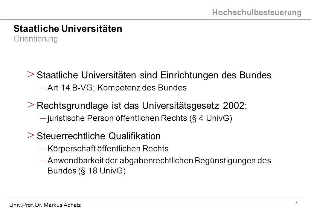 Staatliche Universitäten Orientierung