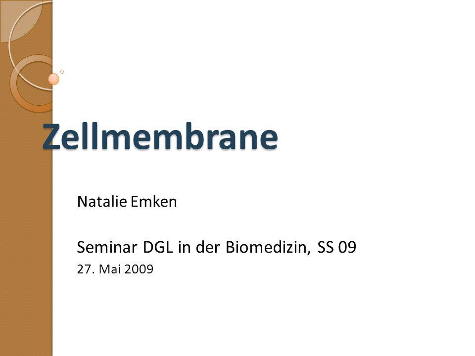 Natalie Emken Seminar DGL in der Biomedizin, SS 09 27. Mai 2009