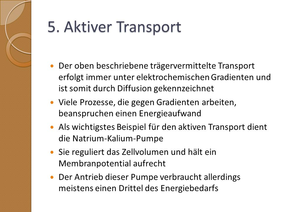 5. Aktiver Transport