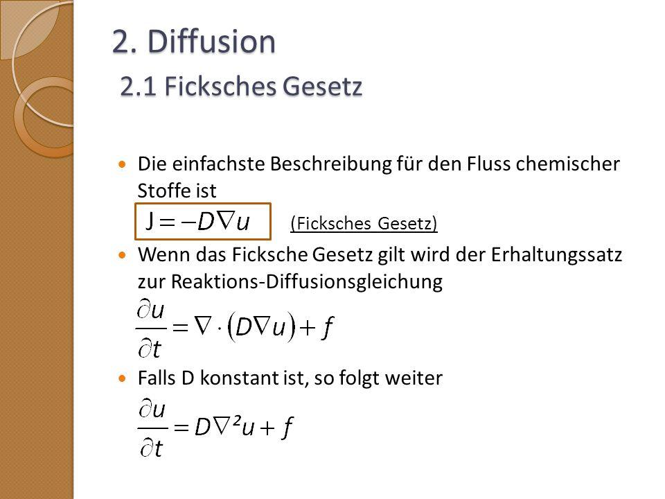 2. Diffusion 2.1 Ficksches Gesetz