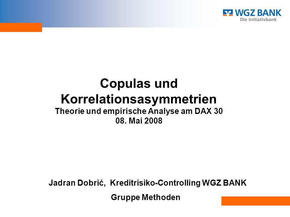 Jadran Dobrić, Kreditrisiko-Controlling WGZ BANK Gruppe Methoden