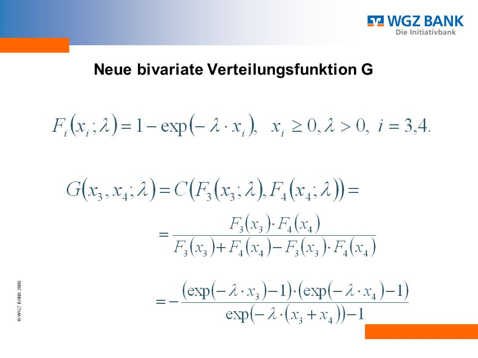 Neue bivariate Verteilungsfunktion G