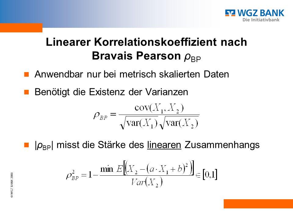 Linearer Korrelationskoeffizient nach Bravais Pearson ρBP