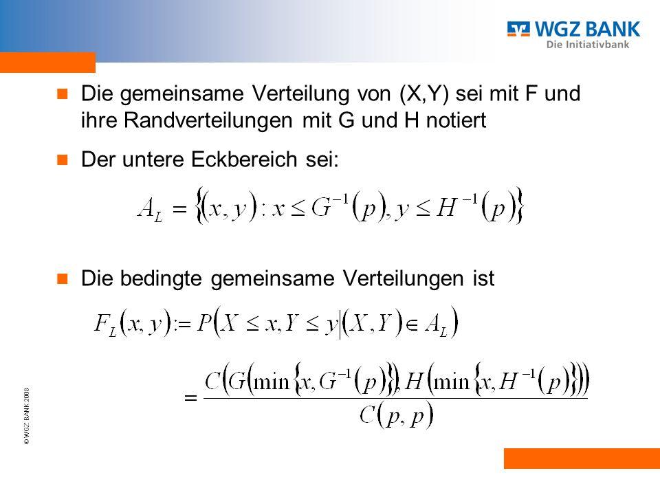 Die gemeinsame Verteilung von (X,Y) sei mit F und ihre Randverteilungen mit G und H notiert