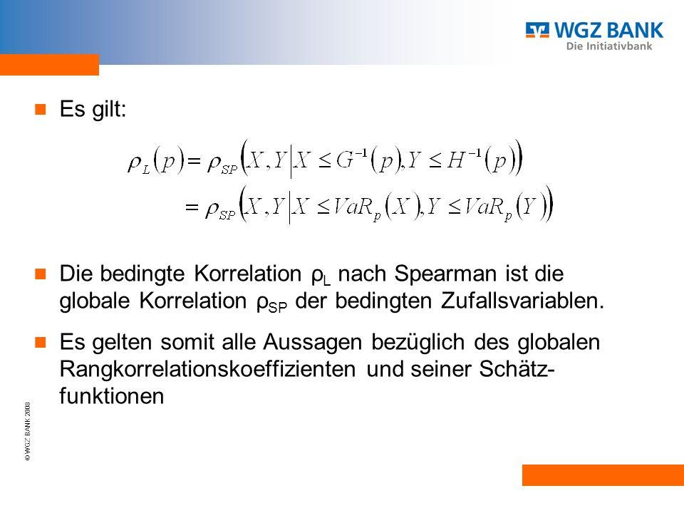 Es gilt: Die bedingte Korrelation ρL nach Spearman ist die globale Korrelation ρSP der bedingten Zufallsvariablen.