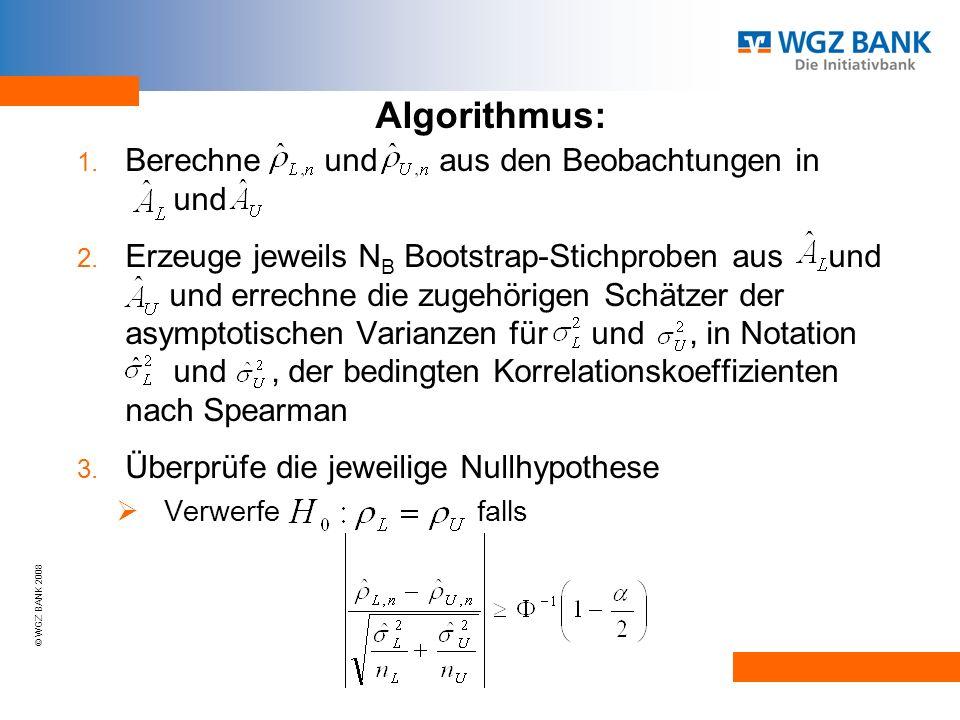 Algorithmus: Berechne und aus den Beobachtungen in und