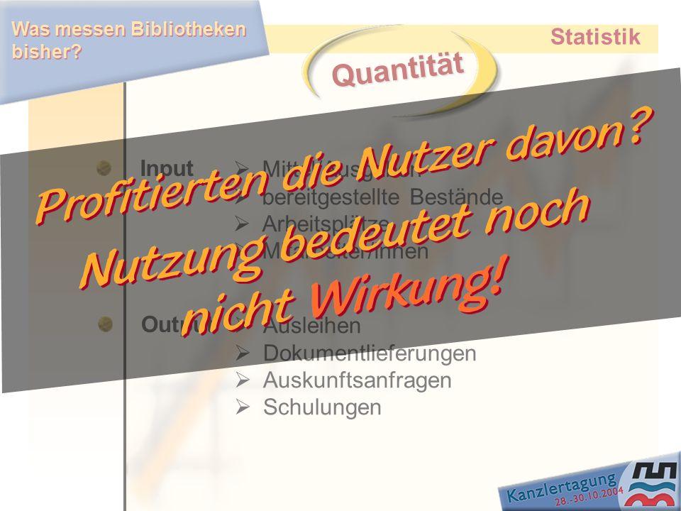 Quantität Statistik Input Mittel/Ausgaben bereitgestellte Bestände