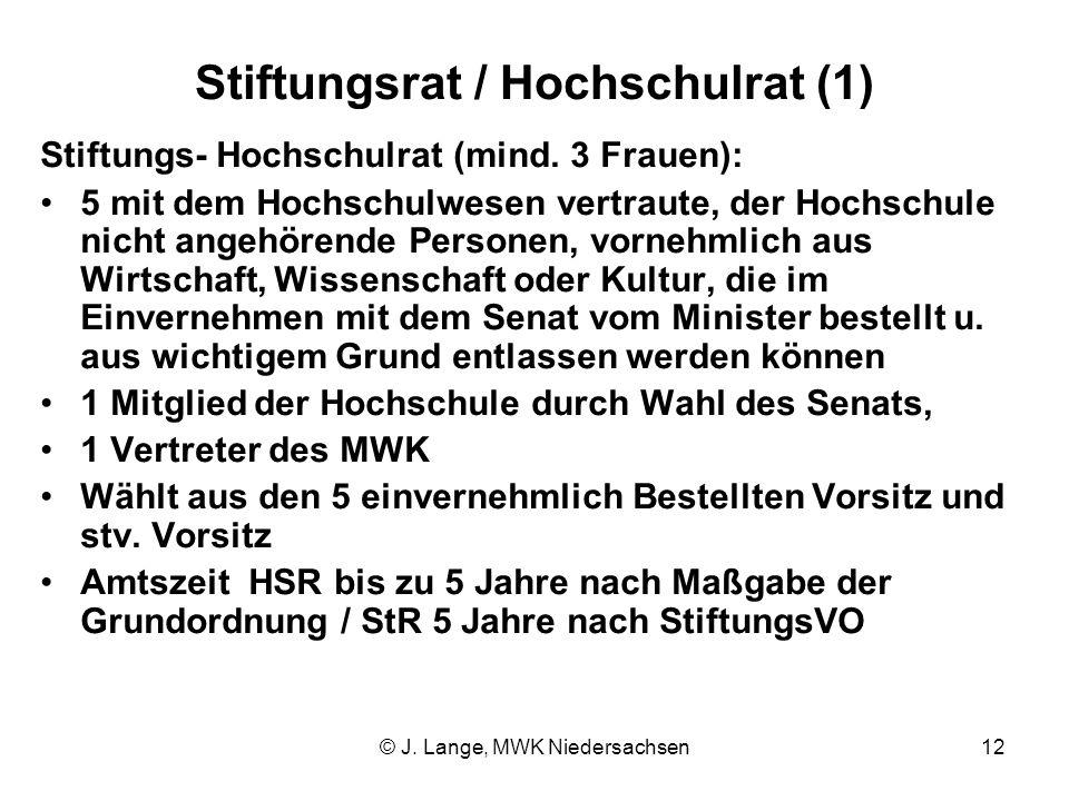 Stiftungsrat / Hochschulrat (1)