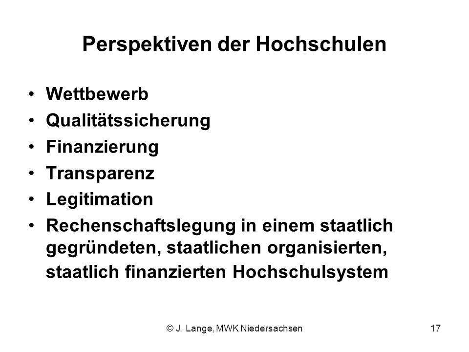 Perspektiven der Hochschulen
