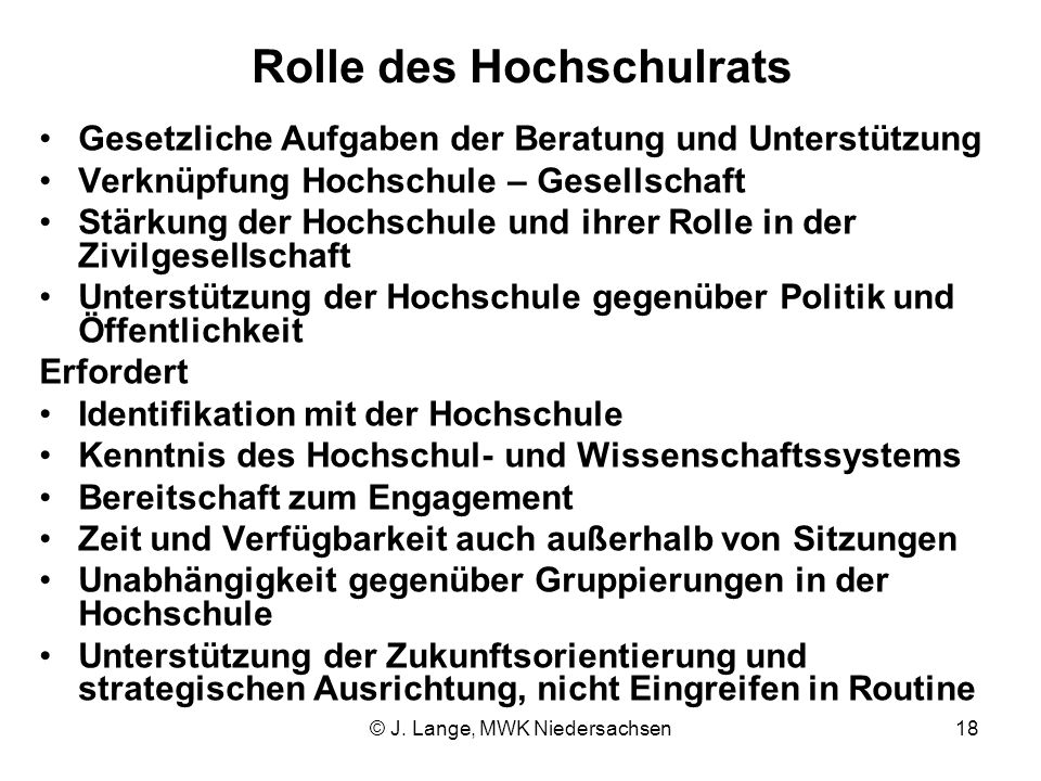 Rolle des Hochschulrats