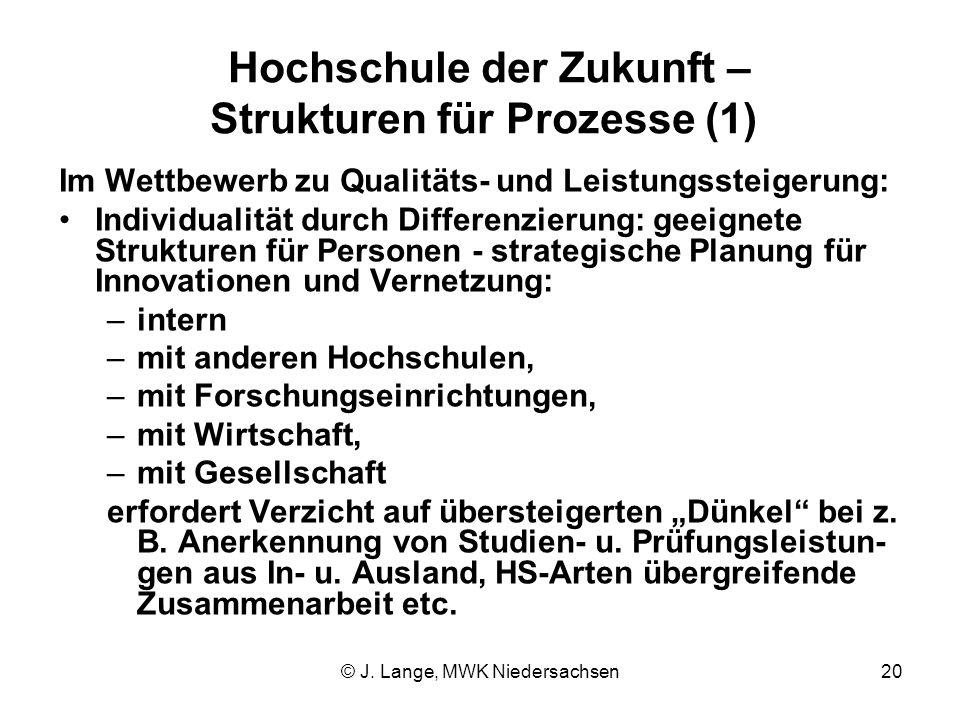 Hochschule der Zukunft – Strukturen für Prozesse (1)