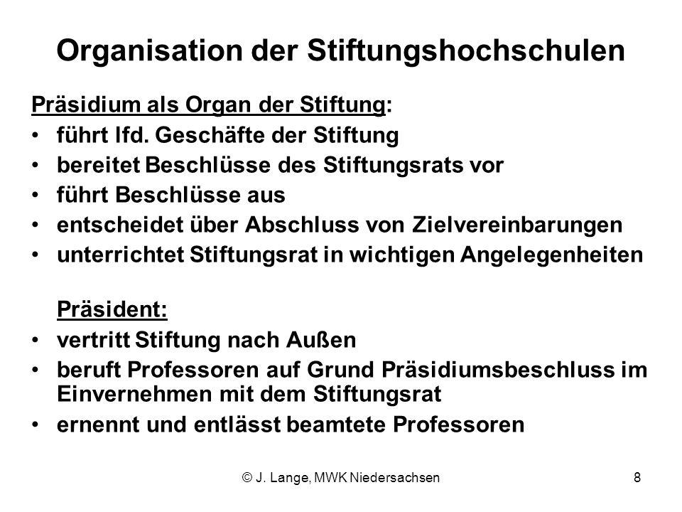 Organisation der Stiftungshochschulen
