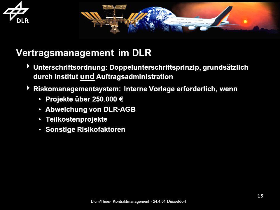 Vertragsmanagement im DLR