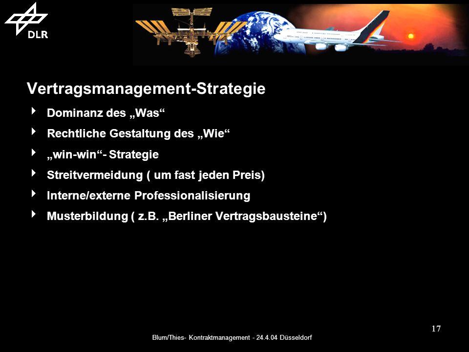 Vertragsmanagement-Strategie