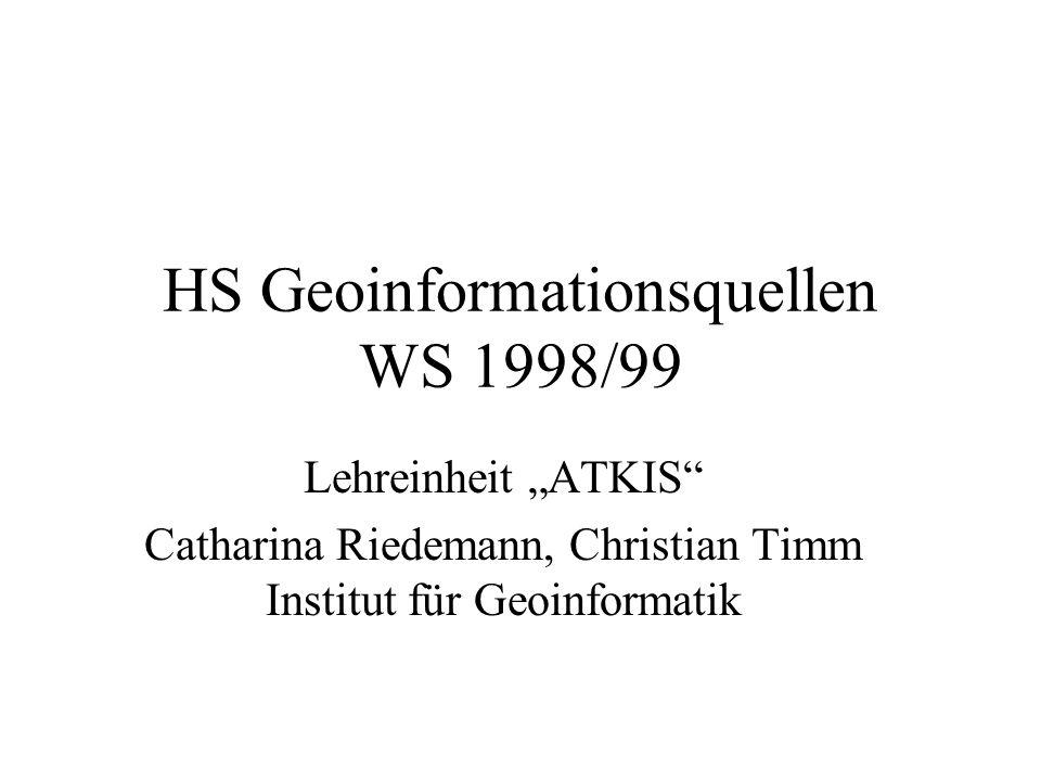 HS Geoinformationsquellen WS 1998/99