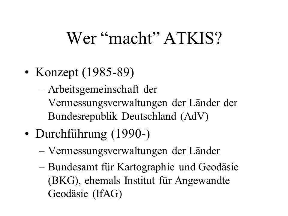 Wer macht ATKIS Konzept (1985-89) Durchführung (1990-)