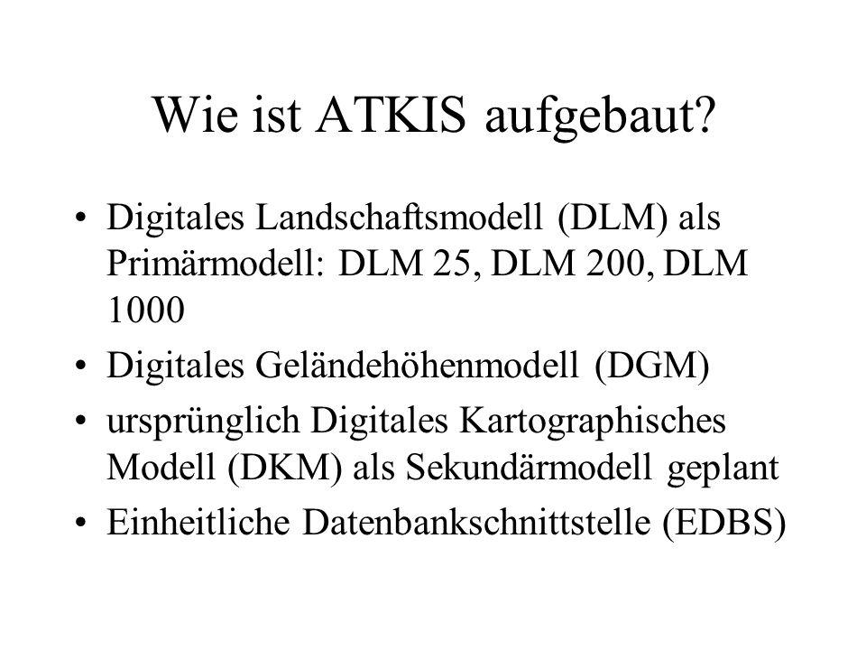 Wie ist ATKIS aufgebaut