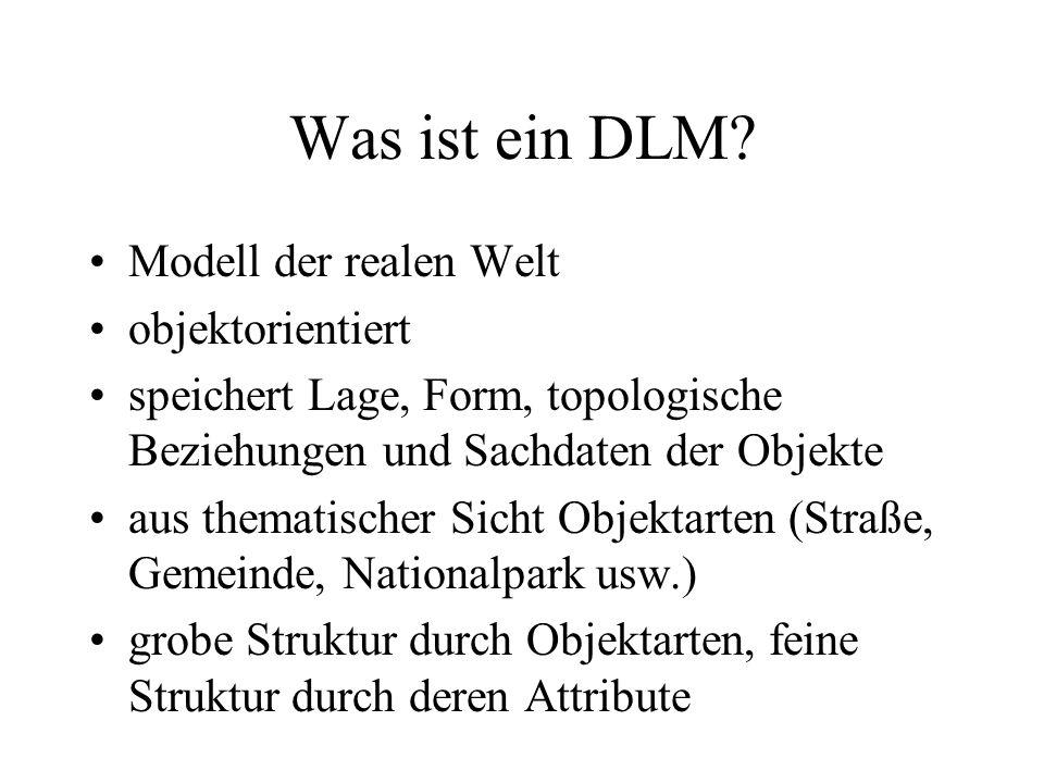 Was ist ein DLM Modell der realen Welt objektorientiert