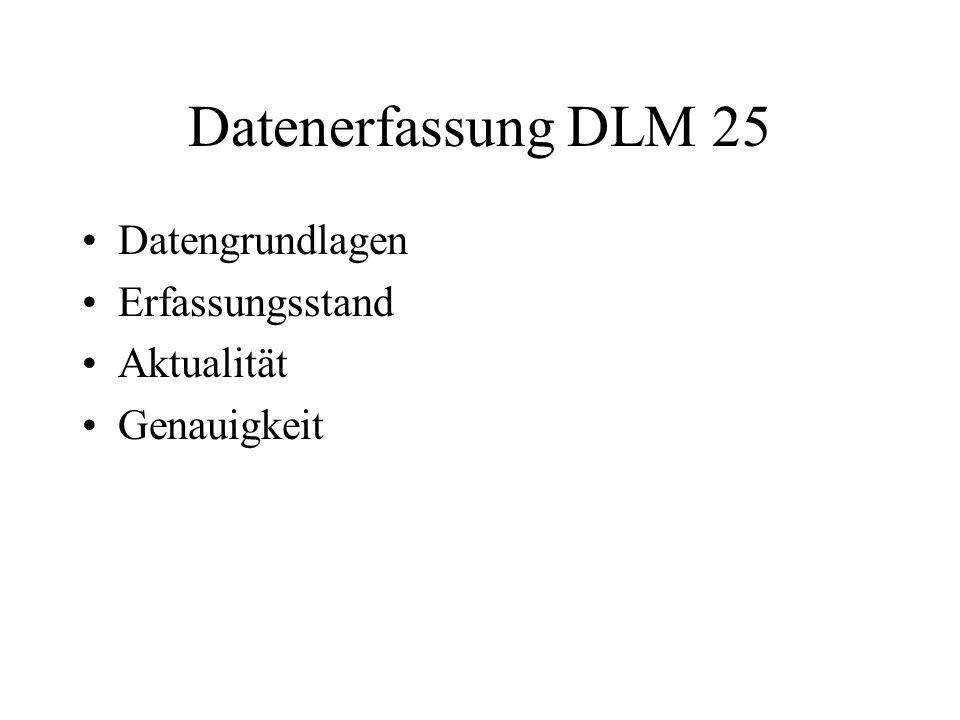 Datenerfassung DLM 25 Datengrundlagen Erfassungsstand Aktualität