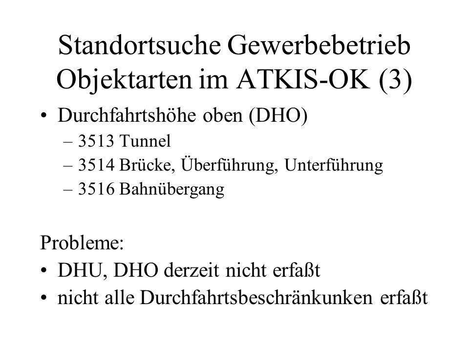 Standortsuche Gewerbebetrieb Objektarten im ATKIS-OK (3)